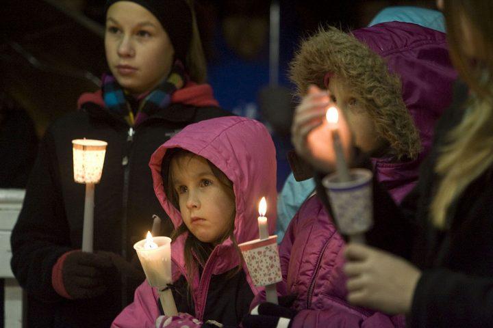 Children at vigil