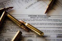 Gun cartridges and firearms registration form