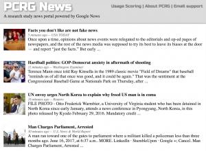 Experimental news portal