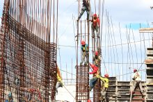 workers on building