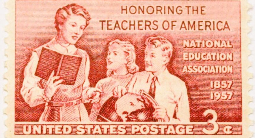 U.S. postage stamp honoring the National Education Association.