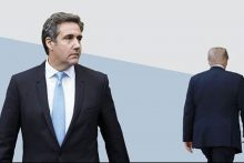 Photo illustration featuring Donald Trump and Michael Cohen
