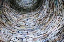Tunnel tower of books