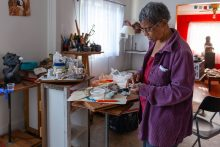 Lorraine Bonner, a retired doctor and sculptor from Oakland, Calif., says she spent a year recovering after surgical staples were used to seal her colon. (Heidi de Marco/KHN)