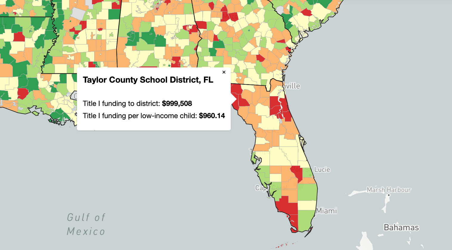The 2020 census and Title I funding for schools: Interactive maps to localize your state's stakes