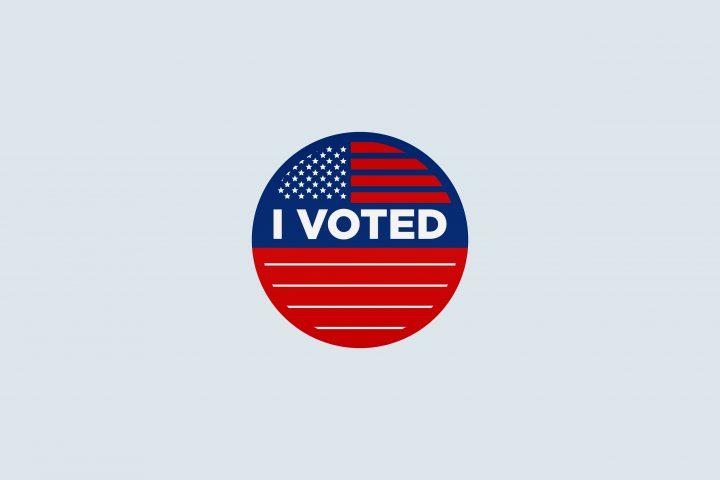 Voter sticker.
