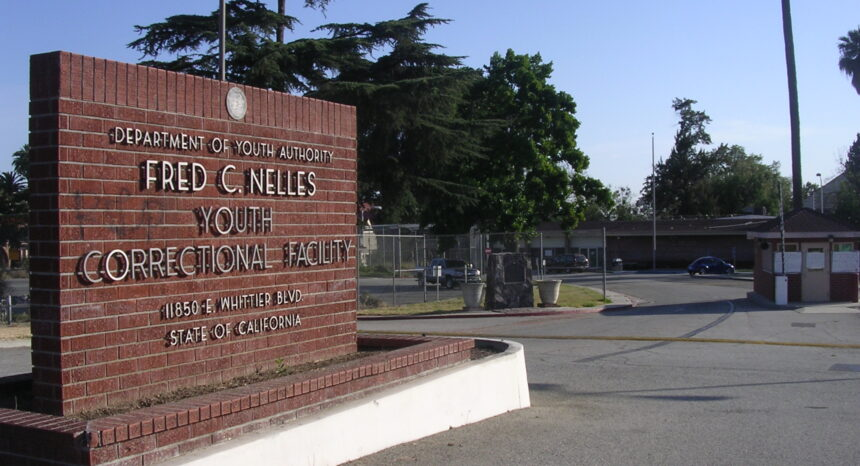 Juvenile justice, juvenile detention and youth incarceration: Entrance to the Fred C. Nelles Youth Correctional Facility in Whittier, Calif., closed in 2004.