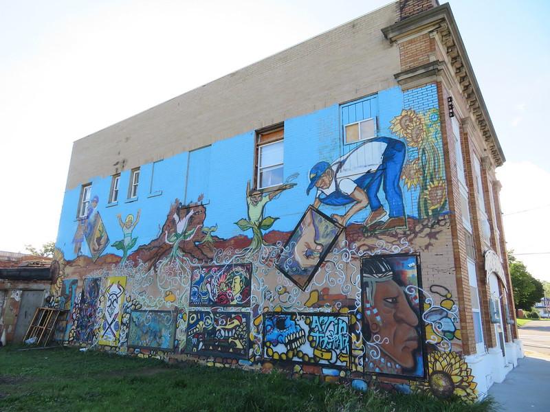 A mural in Flint, Michigan.