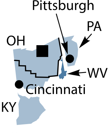 Federal Reserve District 4 map