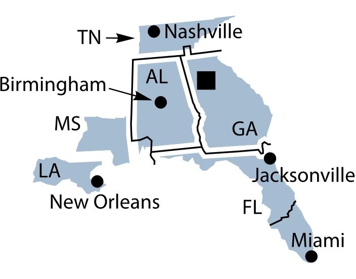 Federal Reserve District 6 map