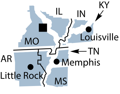 Federal Reserve District 8 map