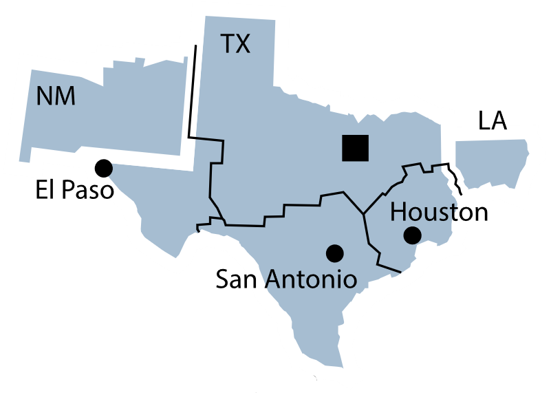 Federal Reserve District 11 map.