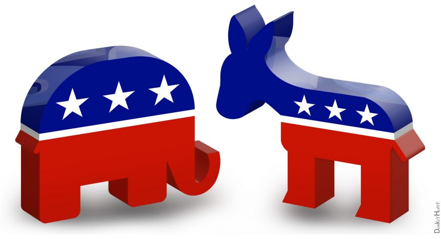 political polarization newspaper opinion pages local issues politics